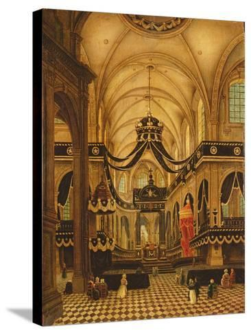 Funeral of Louis Belmas at Cambrai Cathedral-Antoine Louis Saint-Aubert-Stretched Canvas Print