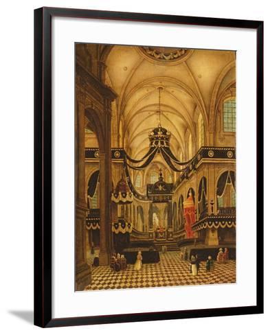Funeral of Louis Belmas at Cambrai Cathedral-Antoine Louis Saint-Aubert-Framed Art Print
