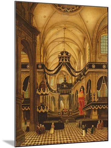Funeral of Louis Belmas at Cambrai Cathedral-Antoine Louis Saint-Aubert-Mounted Giclee Print