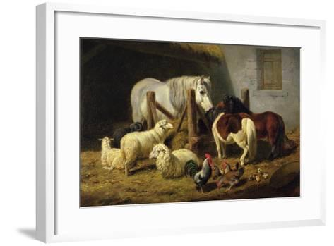 Barnyard, 1860-Arthur Fitzwilliam Tait-Framed Art Print