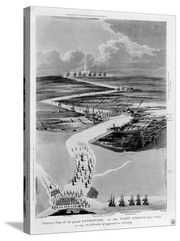 Pictural Plan of the Grand Expedition in the West Scheldt-Captain Cockburn-Stretched Canvas Print