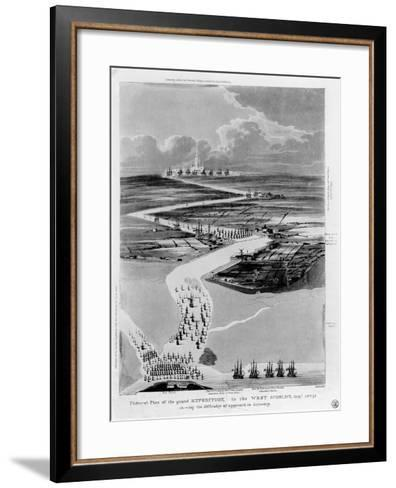 Pictural Plan of the Grand Expedition in the West Scheldt-Captain Cockburn-Framed Art Print