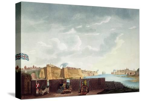 View of La Valletta During the Siege of 1800, Engraved by Francis Chesham, 1803-Captain James Weir-Stretched Canvas Print