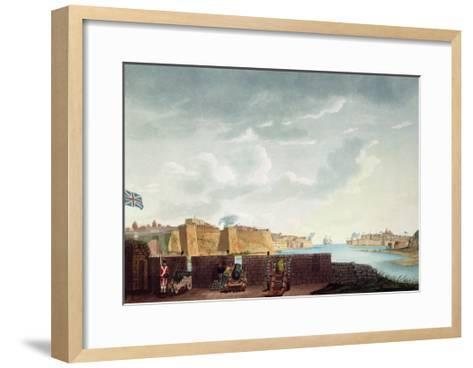 View of La Valletta During the Siege of 1800, Engraved by Francis Chesham, 1803-Captain James Weir-Framed Art Print