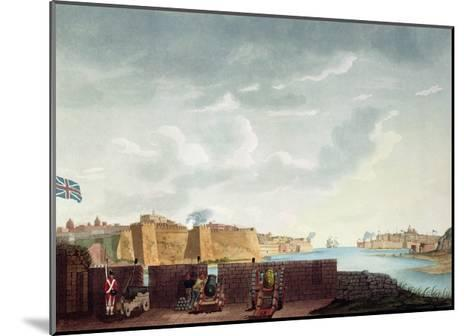 View of La Valletta During the Siege of 1800, Engraved by Francis Chesham, 1803-Captain James Weir-Mounted Giclee Print