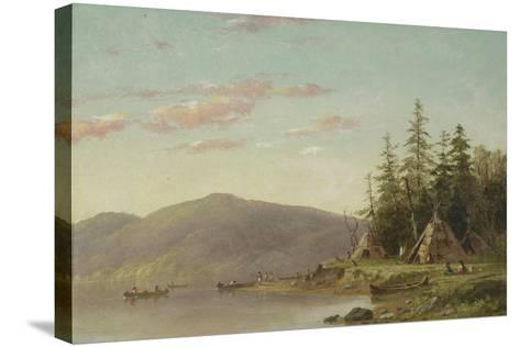 Chippewa Encampment on the Upper Mississippi, C.1845-Seth Eastman-Stretched Canvas Print