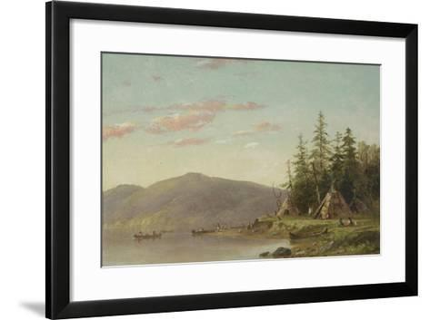 Chippewa Encampment on the Upper Mississippi, C.1845-Seth Eastman-Framed Art Print
