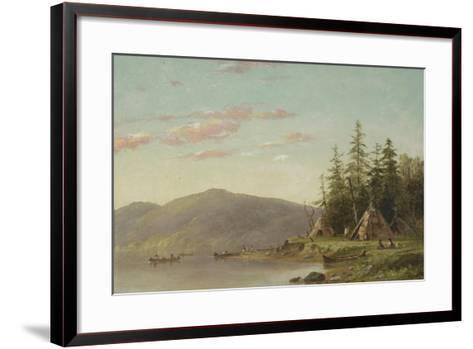 Chippewa Encampment on the Upper Mississippi, C.1845-Seth Eastman-Framed Art Print
