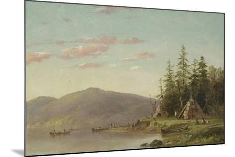 Chippewa Encampment on the Upper Mississippi, C.1845-Seth Eastman-Mounted Giclee Print