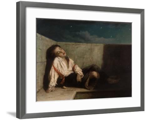 A Recess on a London Bridge, 1879-Augustus Edward Mulready-Framed Art Print