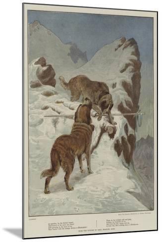 A Traveller, by the Faithful Hound-Basil Bradley-Mounted Giclee Print