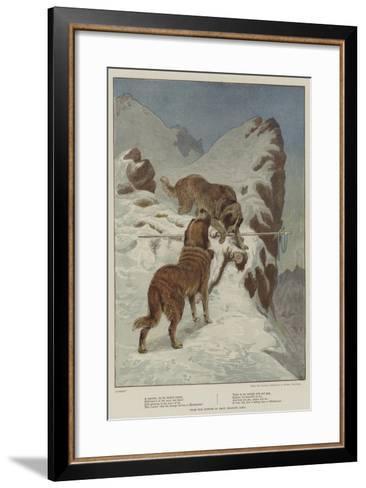 A Traveller, by the Faithful Hound-Basil Bradley-Framed Art Print
