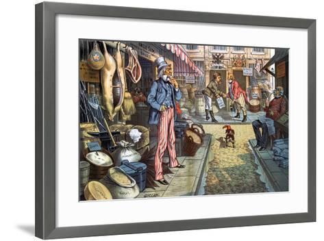 Peace, But Not Business. 1885-Bernard Gillam-Framed Art Print