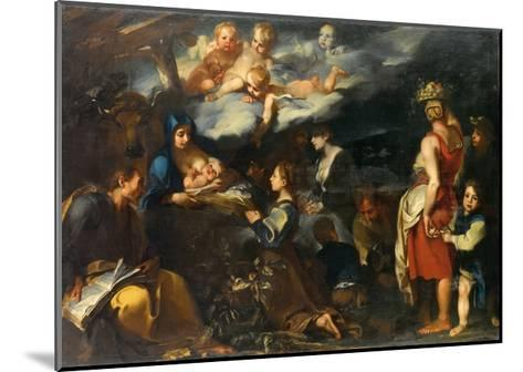 Adoration of the Child with Saint Luke, C.1700-Carlo Donelli-Mounted Giclee Print