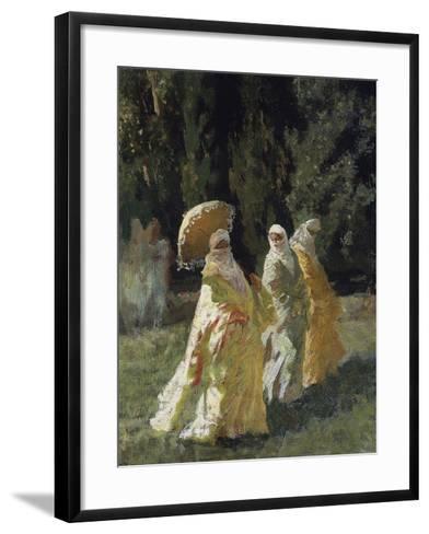 The Favorites in the Park, 1870-Cesare Biseo-Framed Art Print