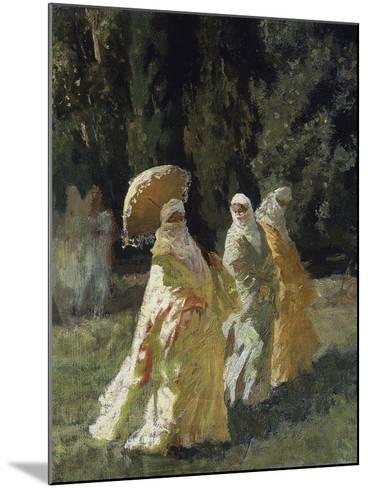 The Favorites in the Park, 1870-Cesare Biseo-Mounted Giclee Print