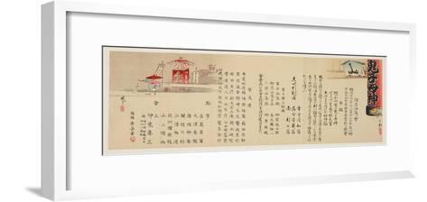 Notification of the Witty Poem Contest at Iriya, Tokyo, November 1893-Ayaka Y?shin-Framed Art Print