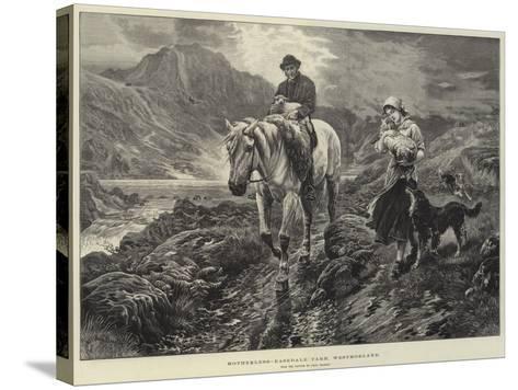 Motherless, Easedale Tarn, Westmorland-Basil Bradley-Stretched Canvas Print