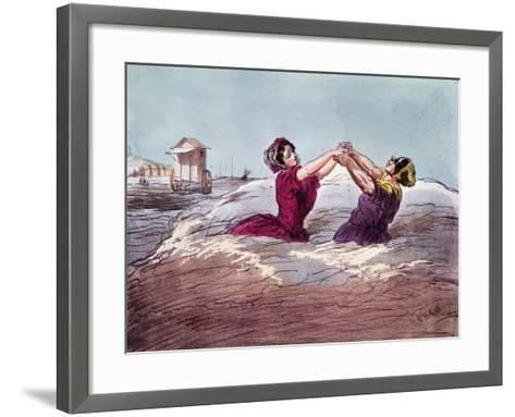 Bathing- Cham-Framed Art Print