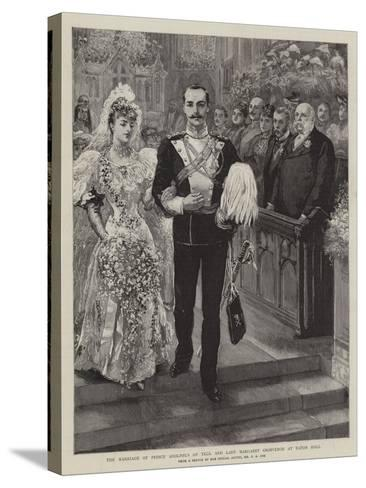 The Marriage of Prince Adolphus of Teck and Lady Margaret Grosvenor at Eaton Hall-Charles A. Cox-Stretched Canvas Print