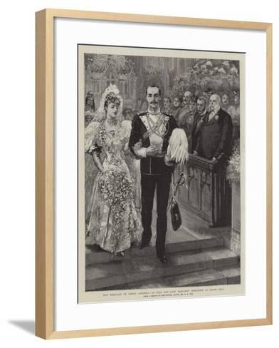 The Marriage of Prince Adolphus of Teck and Lady Margaret Grosvenor at Eaton Hall-Charles A. Cox-Framed Art Print