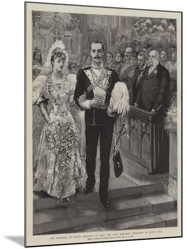 The Marriage of Prince Adolphus of Teck and Lady Margaret Grosvenor at Eaton Hall-Charles A. Cox-Mounted Giclee Print