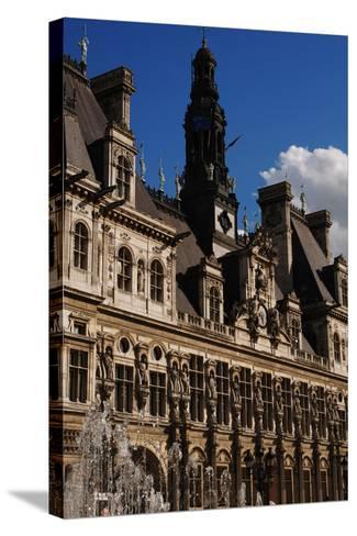 France, Paris, Hotel De Ville, Renaissance Revival- Ballu & Deperthes-Stretched Canvas Print