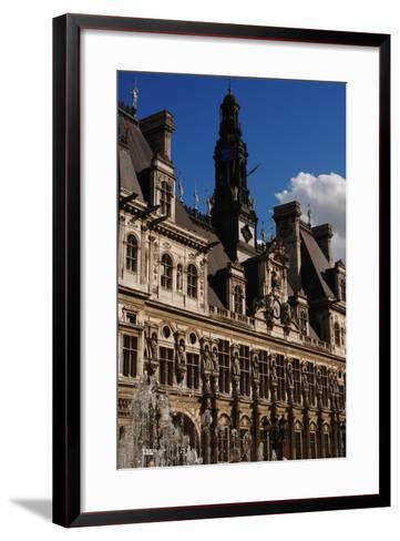 France, Paris, Hotel De Ville, Renaissance Revival- Ballu & Deperthes-Framed Art Print