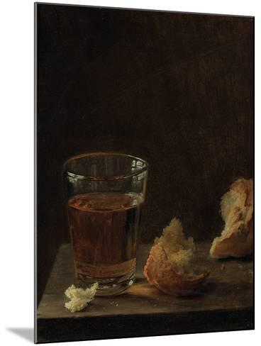 A Glass of Beer and a Bread Roll on a Table-Balthasar Denner-Mounted Giclee Print