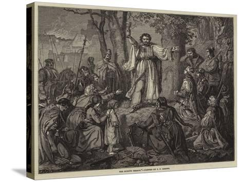 The Hussite Sermon-Carl Friedrich Lessing-Stretched Canvas Print