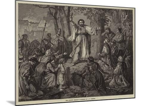 The Hussite Sermon-Carl Friedrich Lessing-Mounted Giclee Print