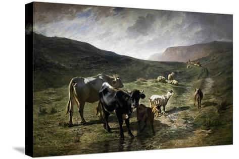 Near Rivara, 1861-Carlo Pittara-Stretched Canvas Print