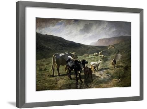 Near Rivara, 1861-Carlo Pittara-Framed Art Print