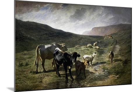 Near Rivara, 1861-Carlo Pittara-Mounted Giclee Print