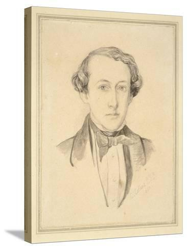 Portrait of Sir John Everett Millais, 1850 (Graphite with Watercolour on Discoloured Cream Paper)-Charles Alston Collins-Stretched Canvas Print