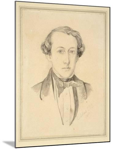 Portrait of Sir John Everett Millais, 1850 (Graphite with Watercolour on Discoloured Cream Paper)-Charles Alston Collins-Mounted Giclee Print