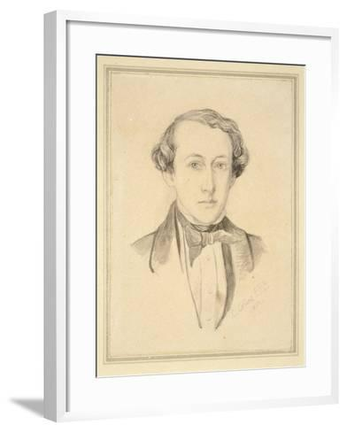 Portrait of Sir John Everett Millais, 1850 (Graphite with Watercolour on Discoloured Cream Paper)-Charles Alston Collins-Framed Art Print