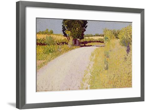 Path in the Country, C.1886-Charles Angrand-Framed Art Print