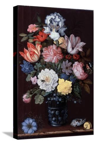 Floral Still Life with Shells, 1622-Balthasar van der Ast-Stretched Canvas Print