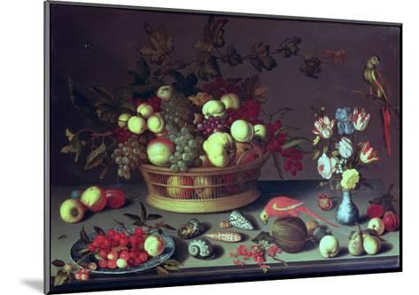 A Basket of Grapes and Other Fruit-Balthasar van der Ast-Mounted Giclee Print