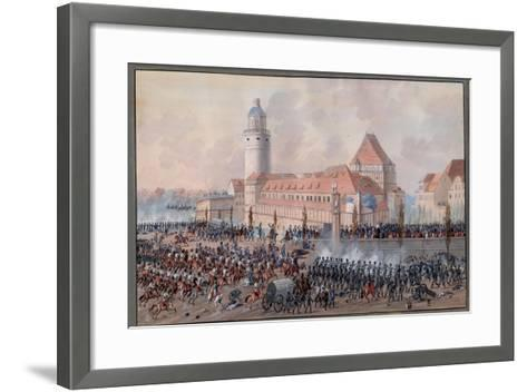 View of Peters Thor in Leipzig, 19th October 1813-Balthasar Wigand-Framed Art Print
