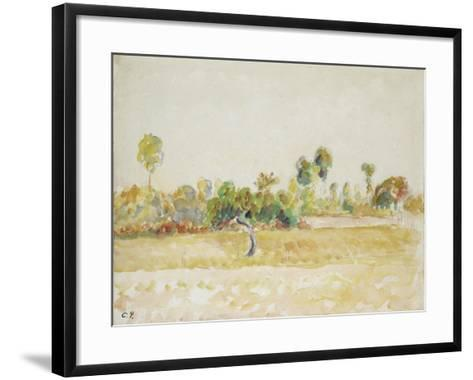 Study of the Orchard at Eragny-Sur-Epte, Seen from the Artist's House, C. 1886 - 1890-Camille Pissarro-Framed Art Print