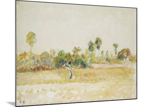 Study of the Orchard at Eragny-Sur-Epte, Seen from the Artist's House, C. 1886 - 1890-Camille Pissarro-Mounted Giclee Print
