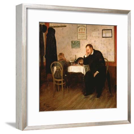 Orphaned, 1897-Baron Mikhail Petrovich Klodt von Jurgensburg-Framed Art Print