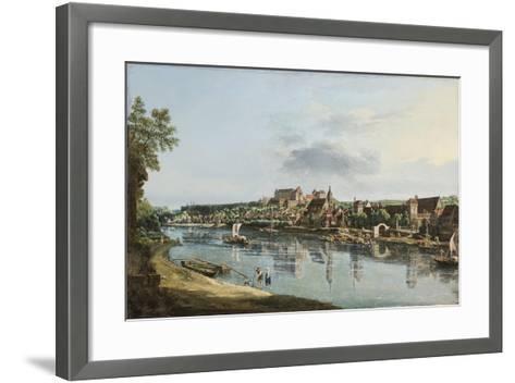 Pirna on the Elba, C.1756-Bernardo Bellotto-Framed Art Print