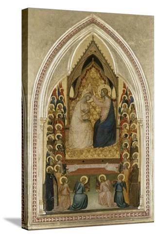 The Coronation of the Virgin with Angels and Saints, C.1340-5-Bernardo Daddi-Stretched Canvas Print