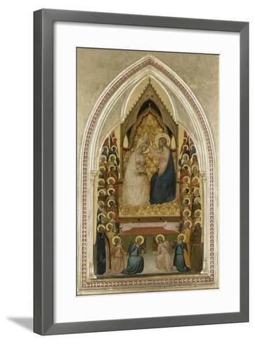 The Coronation of the Virgin with Angels and Saints, C.1340-5-Bernardo Daddi-Framed Art Print