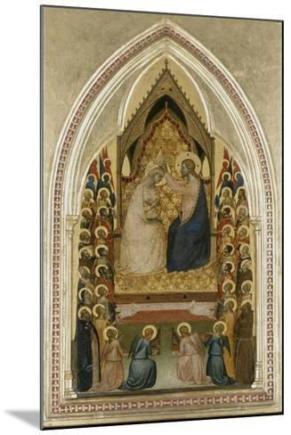 The Coronation of the Virgin with Angels and Saints, C.1340-5-Bernardo Daddi-Mounted Giclee Print