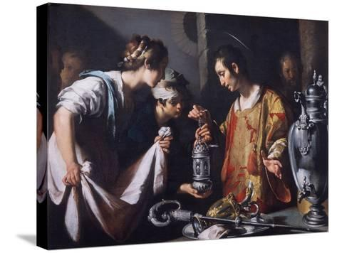 St. Lawrence Distributing the Riches of the Church, C.1625-Bernardo Strozzi-Stretched Canvas Print