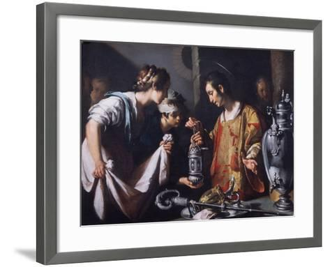 St. Lawrence Distributing the Riches of the Church, C.1625-Bernardo Strozzi-Framed Art Print